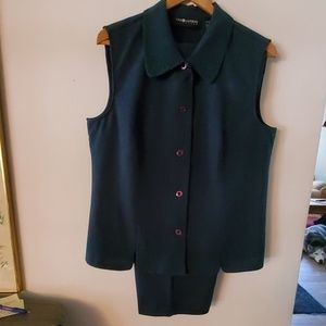 Sag Harbor Green Pant Suit w/Embroidery -18